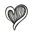 Fantasy heart in tattoo style vector image