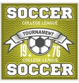 Football emblem vector image