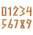 numbers to ten vector image