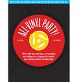 All-Vinyl Record Party Invitation vector image