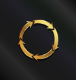 Gold life circle logo vector image
