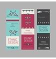 Collection of tribal boho folk vinatge tickets vector image