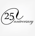 Anniversary celebration emblem vector image