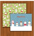 Christmas greeting card with an envelope vector image