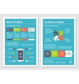 Modern business infographic brochure template 4 vector image