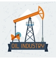 Oil pump jack background vector image