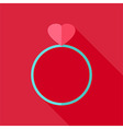 Ring with heart vector image