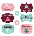 Set of vintage bakery labels vector image