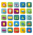 transportation color icons with long shadow vector image
