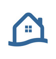 waterfront house simple icon vector image