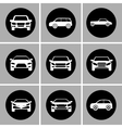 White cars set Transportation design vector image