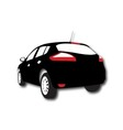 Silhouette of Car black vector image