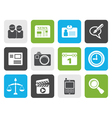 Black web site computer and business icons vector image