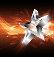 star abstract background design vector image vector image