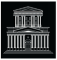 architectural facade vector image
