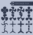 Vintage fan part vector image