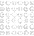 Set of white jigsaw puzzles vector image vector image