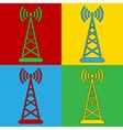 Pop art transmitter icons vector image