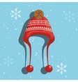 Winter fashion wear and accesories vector image