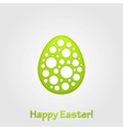 Abstract green grey Easter egg background vector image