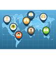 World social network scheme vector image vector image