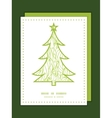 abstract swirls texture Christmas tree silhouette vector image