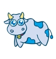 Cute cow cartoon design for kids vector image