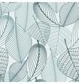 Delicate skeleton leaves seamless pattern vector image