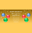 festive horizontal banner or christmas new year vector image