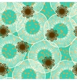 Floral seamless pattern in 50s style vector image