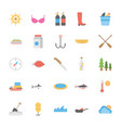 ocean and sea life icons pack vector image