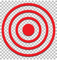 target isolated on transparent target icon flat vector image