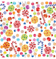 Candies seamless background vector image vector image