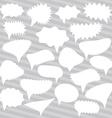 Blank Empty White Speech bubbles set on gray vector image