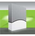 blank dvd box on background vector image