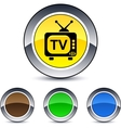 tv round button vector image