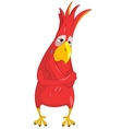 Thinking Funny Parrot vector image