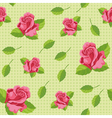 seamless roses green vector image