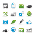 Car service maintenance icons vector image