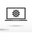 Computer flat Icon Sign Computer logo for web vector image