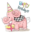 Elephant with gift vector image