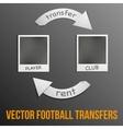 football transfers vector image