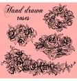 Hand drawn Roses vector image