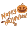 happy halloween Evil Pumpkin isolated on white vector image