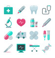 medical and hospital icons set vector image