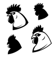 Set of chicken heads Rooster head Design vector image