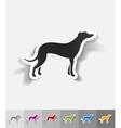 realistic design element greyhound vector image
