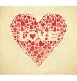 Retro Valentine card vector image