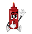 Cartoon Tomato Sauce vector image vector image