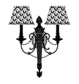 Baroque Elegant Rich Wall lamp vector image